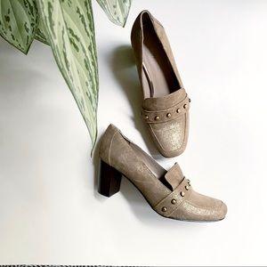 Donald Pliner Peggi Studded Shimmer Heels Size 8